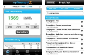 The MyFitnessPal app allows you to track your intake and exercise really easily. And it's free!